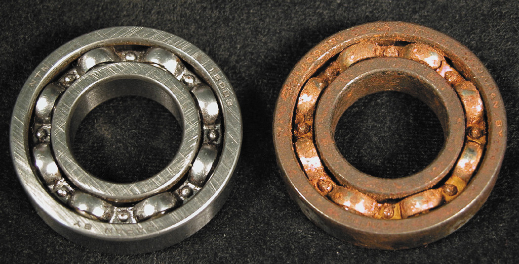 Bearing rust prevention method reference