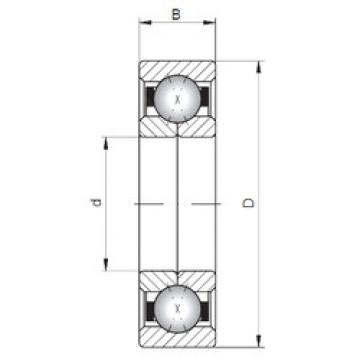 Bearing QJ222 ISO