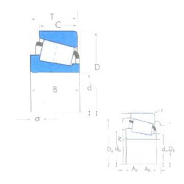 Bearing X32218/Y32218 Timken