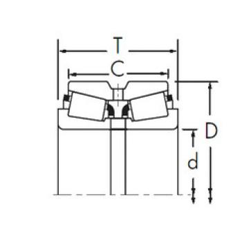 Bearing 9386H/9320D+X2S-9385 Timken
