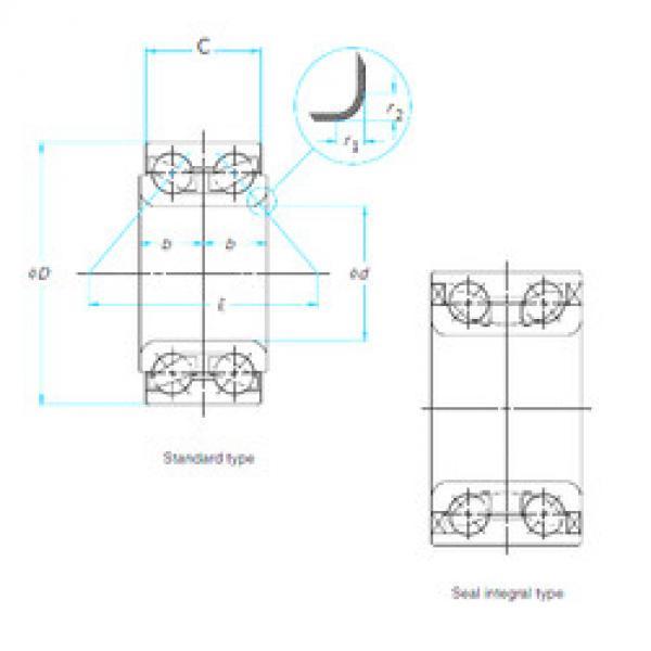 Bearing ZA-45BWD03CA101** NSK #5 image