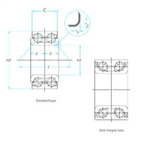 Bearing ZA-45BWD12J1CA8-01 E NSK #5 image