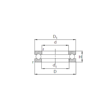 51104 KBC Thrust Ball Bearings #5 image