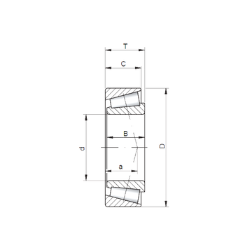 33022 A CX Tapered Boller Bearings #5 image